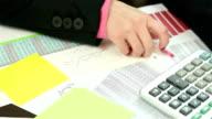 Accountant Writing Amount Of Earnings video