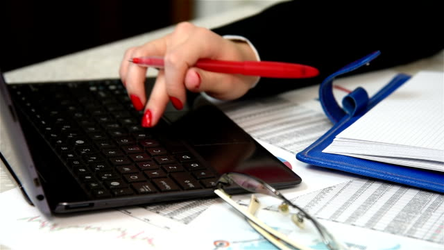 Accountant Writing Amount Of Earnings video