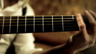 HD acoustic guitar player video