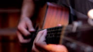 Acoustic guitar playing, moving down the neck video