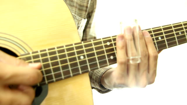 acoustic guitarist HD with bottle slide video