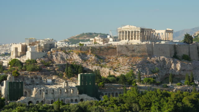 Acropolis Athens greece timelapse video