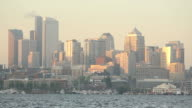 Across Lake Union, Seattle Skyline Morning video