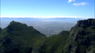 across table mountain - Aerial View - Western Cape,  City of Cape Town,  South Africa video