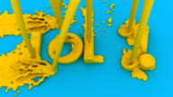 Action Painting the Acronym LOL for 'Laughing Out Loud' video
