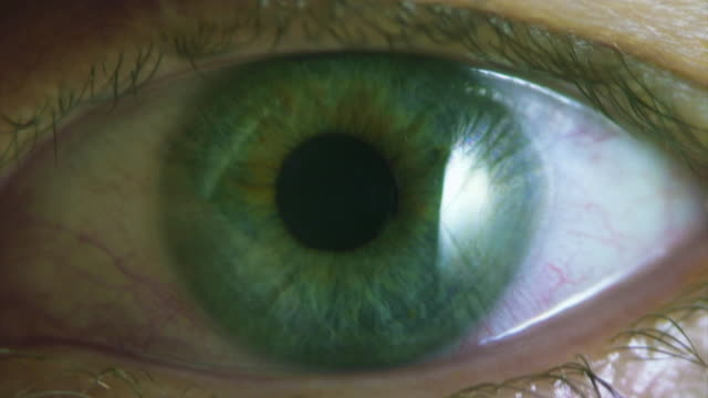Action video. Panic or nervous eye. Natural colored. Loopable. video