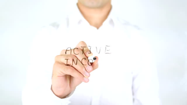 Active Income, Man Writing on Glass video