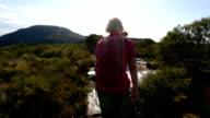POV of Active Senior Couple Hiking video