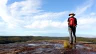 Active Senior Man Hiking video