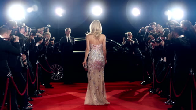 Actress on red carpet video