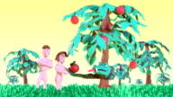 Adam and Eve in the Garden of Eden 01 video