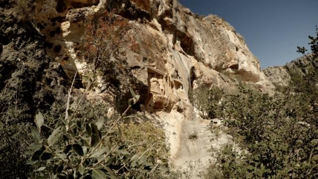 Adamkayalar Turkey famous landmark for rock carved figures Mersin province video