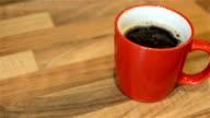 Add Milk to Coffee and Stir video