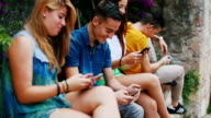 Addiction to mobile phone: young friends social networking video