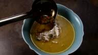 Adding tadka the Arhar Daal soup video