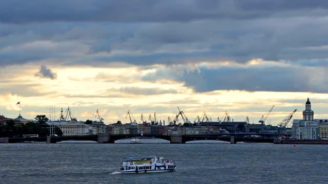 Admiralty Shipyard near Neva River video