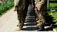 Adoption of the oath by marines, Berdyansk, Ukraine. video