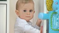 HD: Adorable Baby Exploring The Crib video