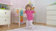 HD CRANE: Adorable Baby Girl Dancing video