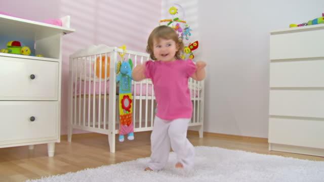 HD CRANE: Adorable Baby Girl Dancing video