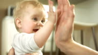 Adorable Baby Giving High Five video