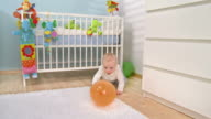 HD DOLLY: Adorable Baby Playing With The Balloon video