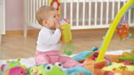 HD DOLLY: Adorable Baby Playing With Toys video