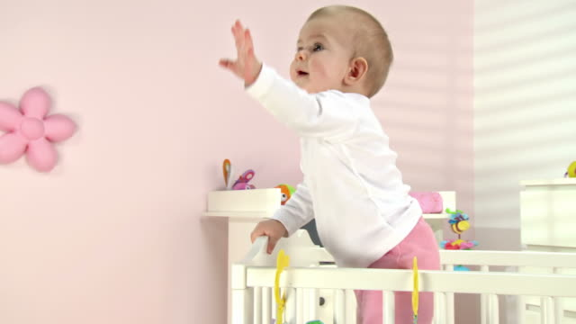 HD DOLLY: Adorable Baby Reaching For Her Mum video