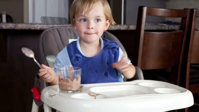 Adorable Boy Eating video