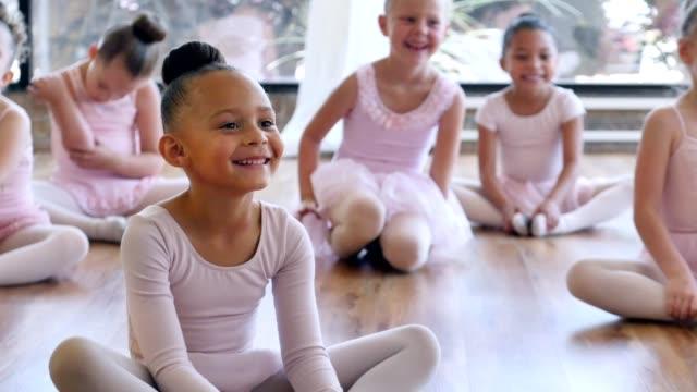 Adorable class of young ballerinas video