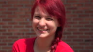 Adorable Female Teen Giggling And Laughing video