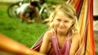 Adorable Girl In The Hammock video