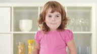 HD: Adorable Little Girl Blushing video