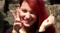 Adorable Redheaded Teen Girl video