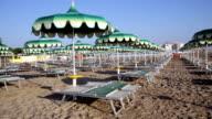 Adriatic beach umbrellas and sunbeds video