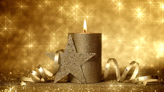 Advent Candle and shining Stars video