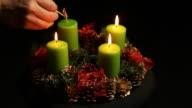 Advent wreath Adventskranz video