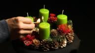 Advent wreath video