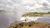 Adventure at the edge of Victoria Falls video