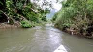 Adventure boat in river video