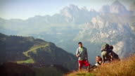 Adventures on the Dolomites with dog video