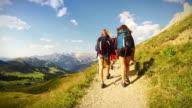 Adventures on the mountain: hiking pov video