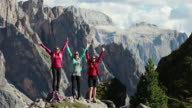 Adventures on the mountain: women hiking together video