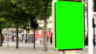 Advertising Billboard Green screen - With people passing by video