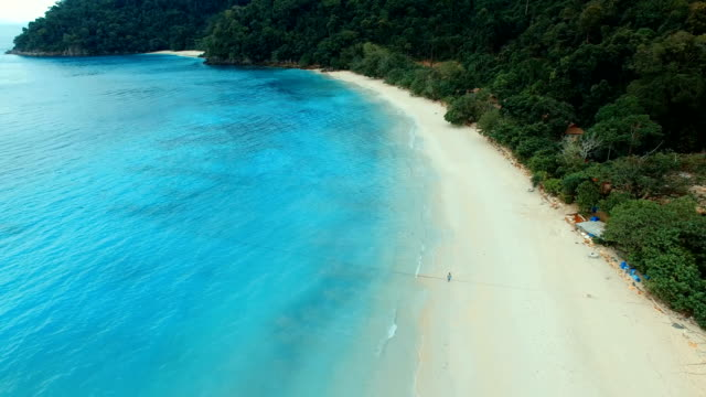 aeria view of nyaung oo phee island sea beach most popular traveling destination in myanmar video