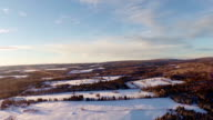 Aerial (90m) 360 View of Rural and Forest Landscape video