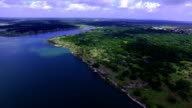 Aerial: Above Georgetown Lake  North of Austin Texas A Paradise Lake Texas Hill Country video
