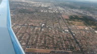 Aerial airline approach Phoenix Arizona housing HD video