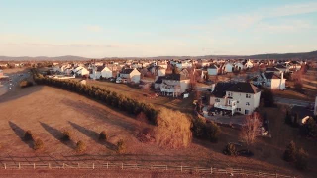 Aerial american suberban neighborhood video