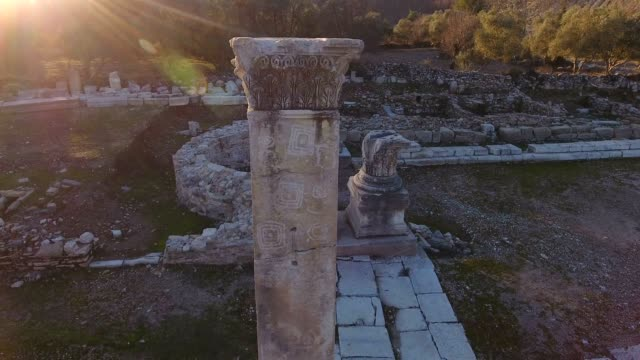 Aerial Ancient Greek and Ancient Roman Ruins in Turkey video